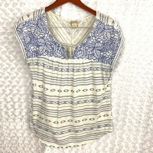 LUCKY Brand Mixed Pattern Short Sleeve Tee